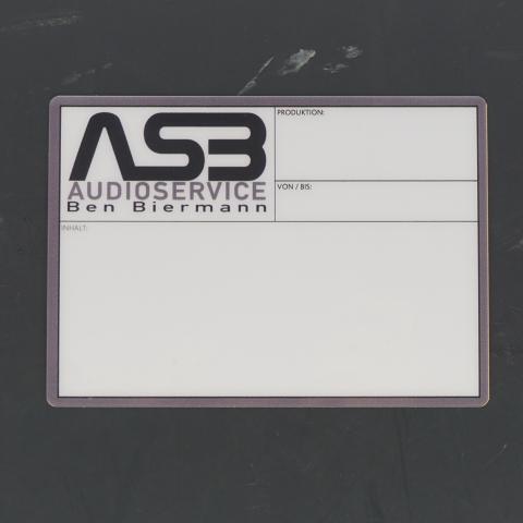 Flightcaselabels Caselabels ASB Audiovisueel