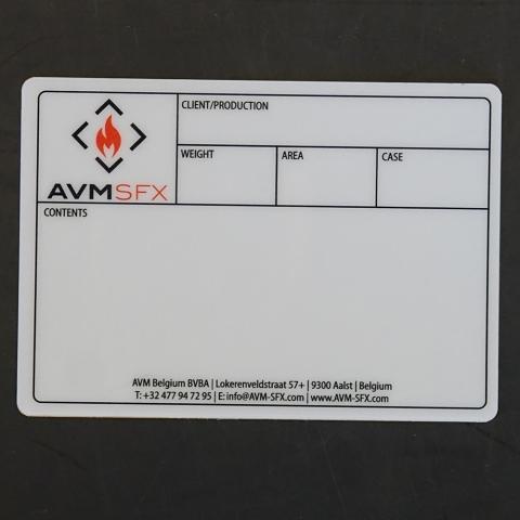 Flightcaselabels Caselabels AVM SFX
