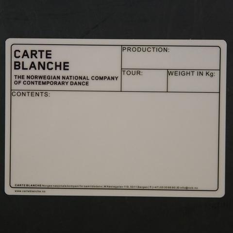 Flightcaselabels Caselabels CARTE BLANCHE
