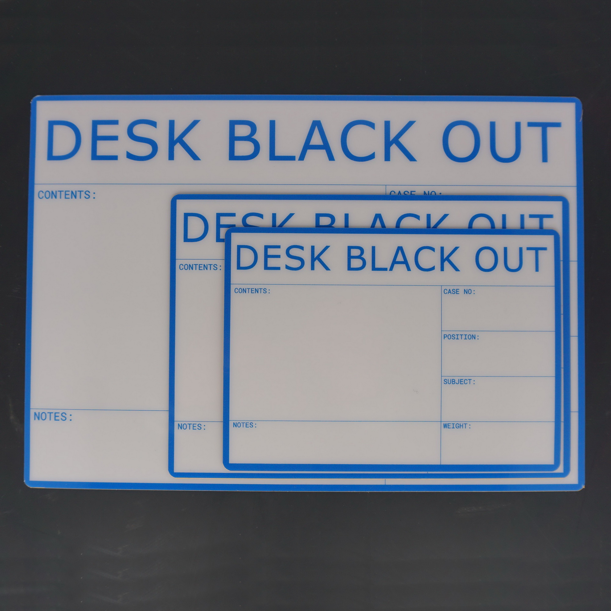 Flightcaselabels Caselabels Desk Black OUT