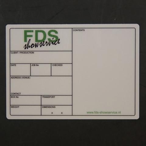 Flightcaselabels Caselabels FDS SHOWSERVICE
