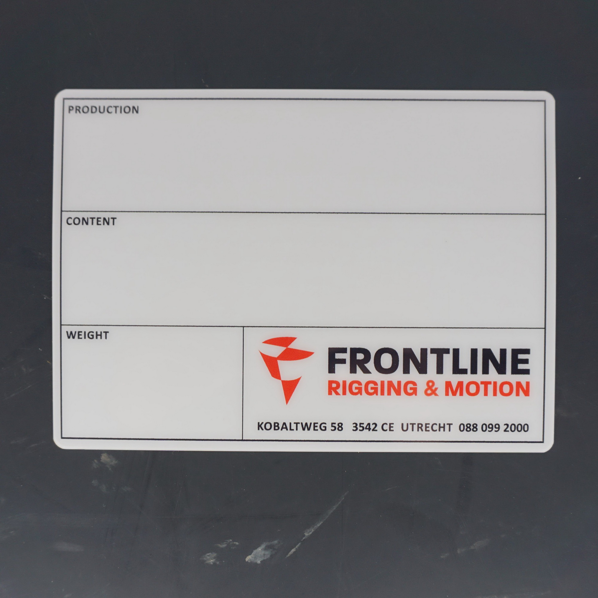 Flightcaselabels Caselabels Frontline Rigging