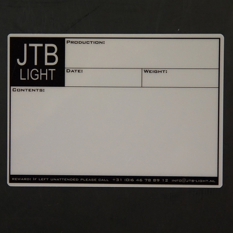 Flightcaselabels Caselabels JTB LIGHT