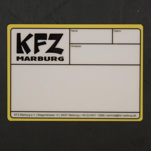 Flightcaselabels Caselabels KFZ MARBURG
