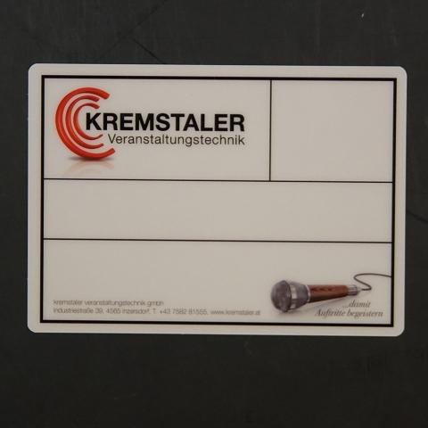 Flightcaselabels Caselabels KREMSTALER VERANSTALTUNGSTECHNIK