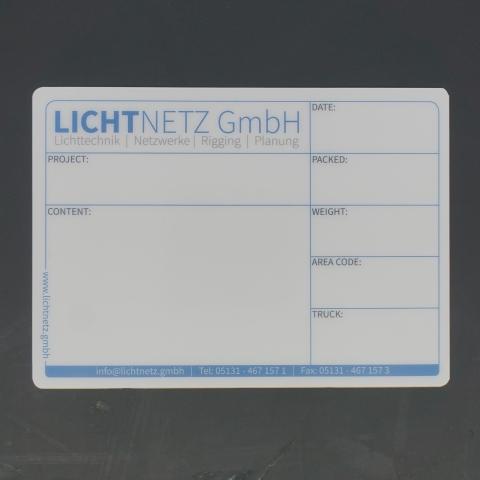 Flightcaselabels Caselabels Lichtnetz GmbH