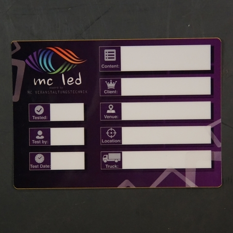 Flightcaselabels Caselabels MC LED