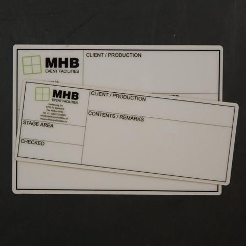 Flightcaselabels Caselabels MHB SHOWTECHNIEK
