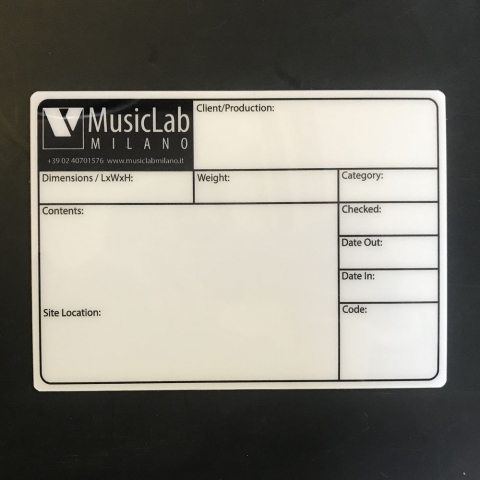 Flightcaselabels Caselabels Musiclab Milano