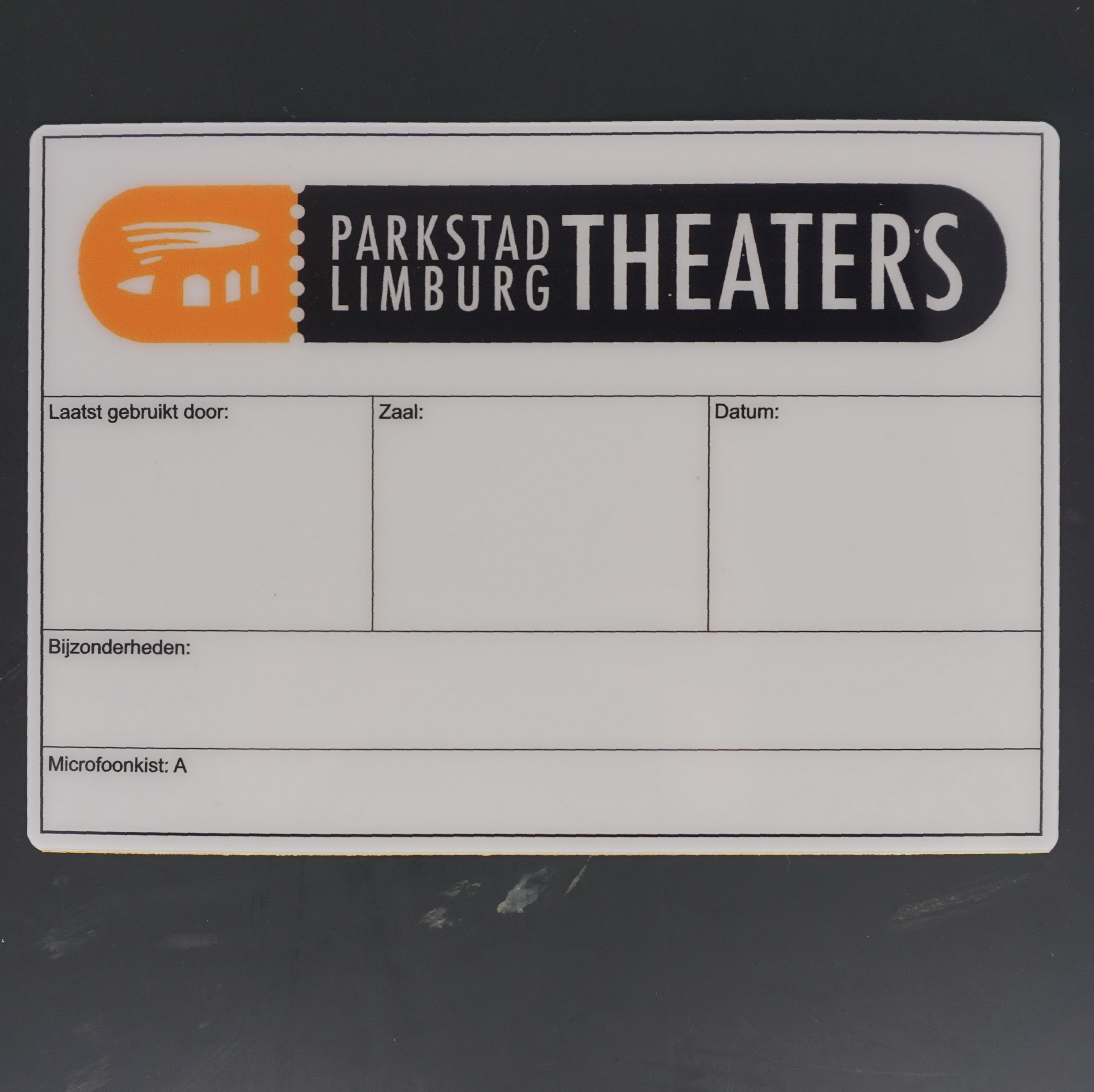 Flightcaselabels Caselabels Parkstad Limburg Theaters