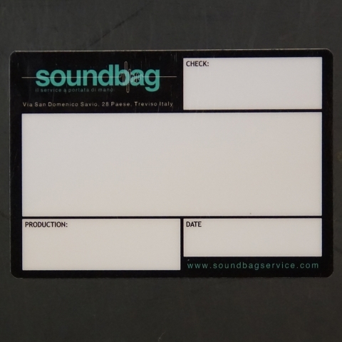 Flightcaselabels Caselabels SOUNDBAG