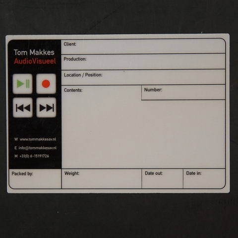 Flightcaselabels Caselabels TOM MAKKES AUDIOVISUEEL