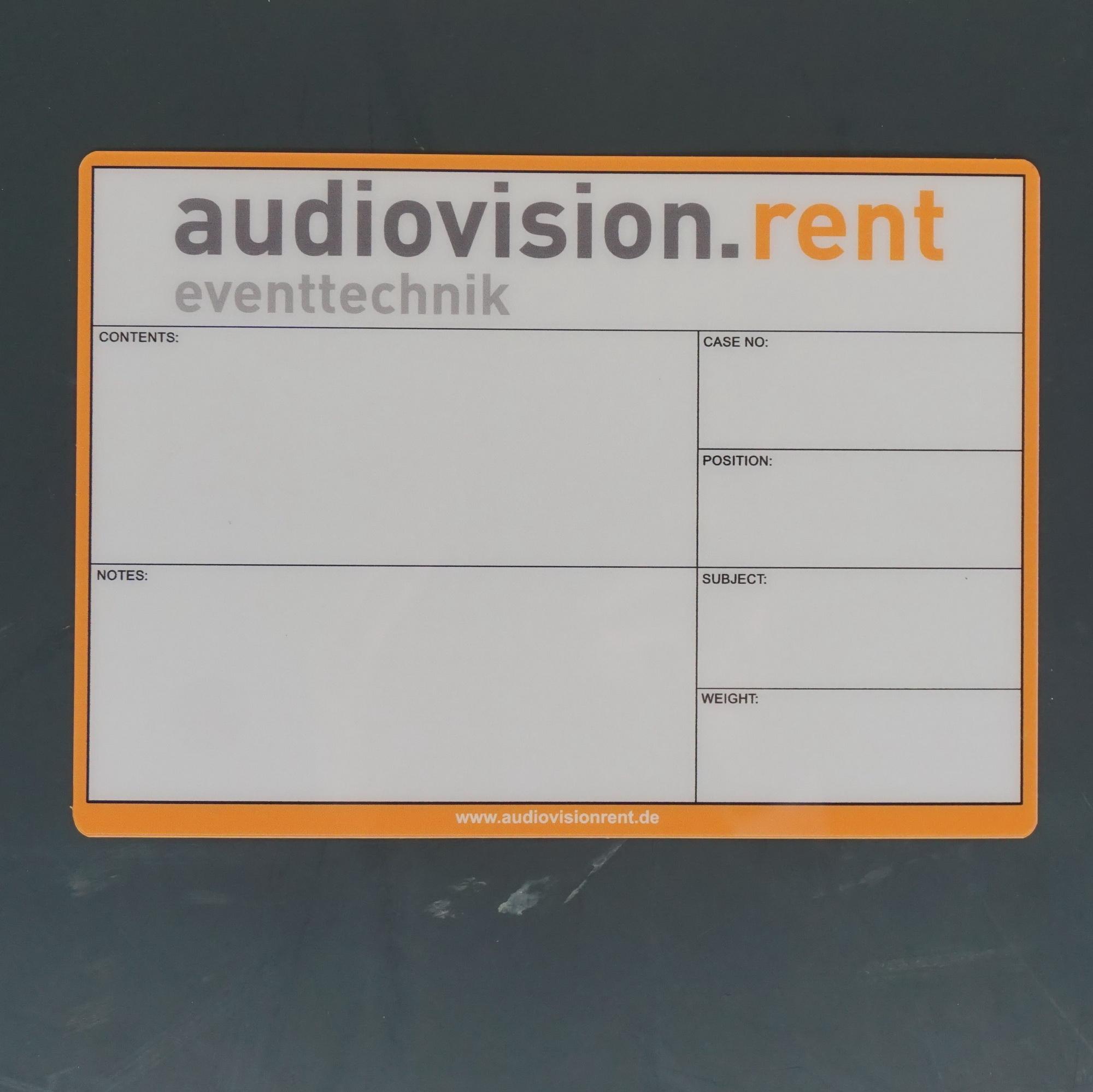 Flightcaselabels Caselabels audiovision
